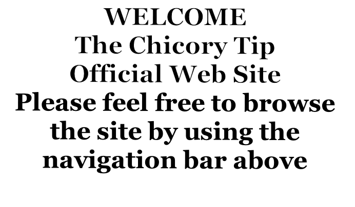 WELCOME The Chicory Tip Official Web Site Please feel free to browse the site by using the navigation bar above